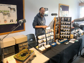 Photo: 004 1st stop, spotlighting a selection of the traders that do so much to support the specialist aspect of our hobby. Here is Steve Bennett, proprietor of the Black Dog and Black Cat 7mm and Gn15 range of resin kits and accessories .