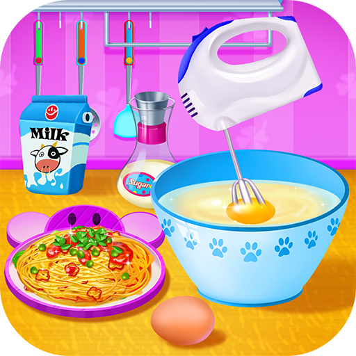 Cooking Pasta In Kitchen Icon