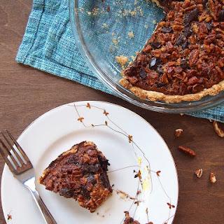 Low Sugar Pecan and Dark Chocolate Pie.