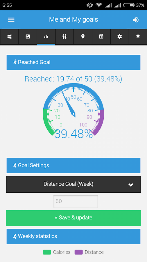 XXL FITNESS Tracker- screenshot