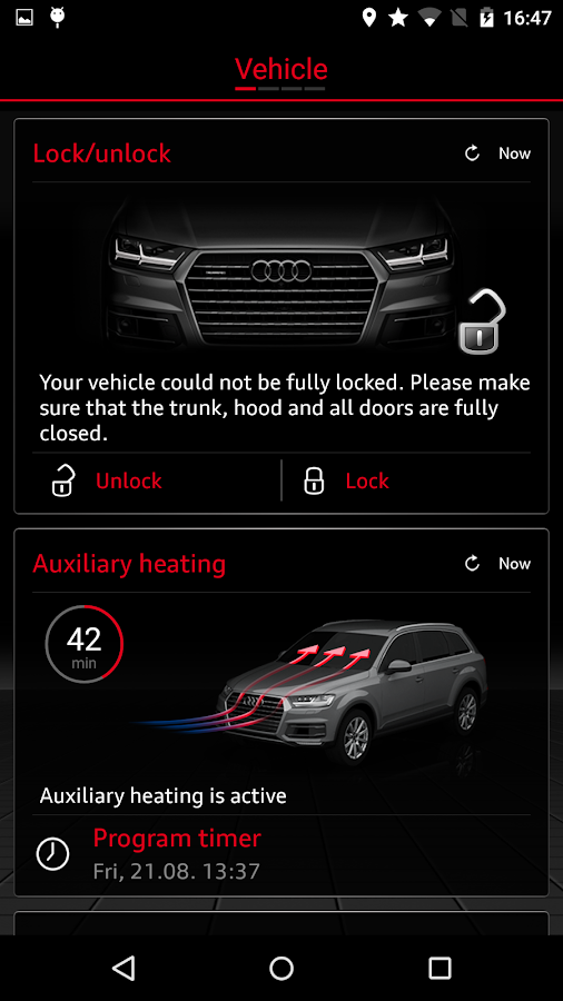 Audi MMI connect- screenshot