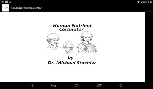 Human Nutrient Calculator