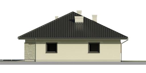 Dom przy Słonecznej 2 bis - Elewacja prawa
