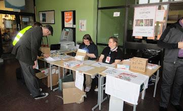 Photo: Registration desk