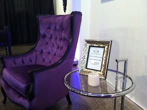 Photo: Great spot to relax & connect with Infiniti... Perfectly paired with the Chrome Eileen Gray Side Table! Don't you think?