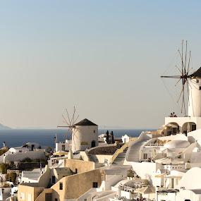 charm  by Anto Boyadjian - City,  Street & Park  Vistas ( windmill, santorini )