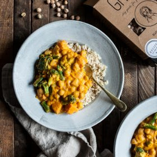 Pumpkin Chickpea Cashew Curry