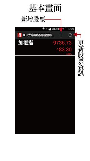 股市888 - 台股大字幕免費行動股市即時報價軟體