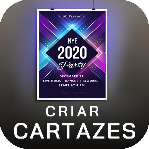 Fazer panfletos e propagandas português Criador de cartazes 2020 Natal Ano Novo