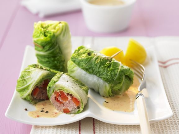 Cabbage Wraps with Meat Filling Recipe