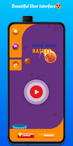 Code Triche Basketball shooting game - The Crazy dunk shot APK MOD (Astuce) screenshots 1