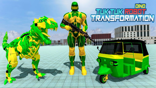 Tuk Tuk Auto Rickshaw Transform Dinosaur Robot screenshots 1