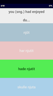 Swedish Verb Blitz- screenshot thumbnail