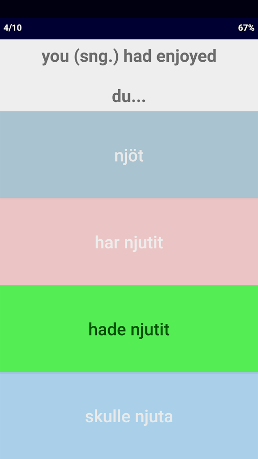 Swedish Verb Blitz- screenshot