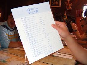 Photo: Richard presents the menu