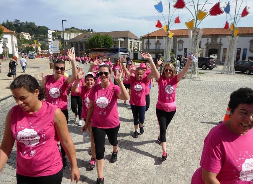 Pelotão cor de rosa em Lamego a favor da Liga Portuguesa Contra o Cancro
