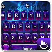 Purple Neon Galaxy Keyboard Theme Android APK Download Free By Love Cute Keyboard