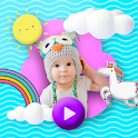 Baby video maker with song and photo icon