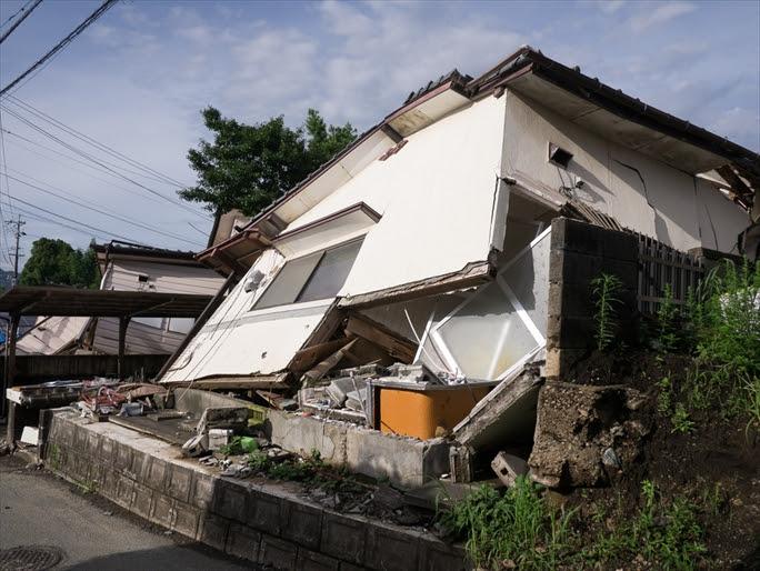 【熊本地震】土台から分離した住宅