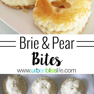Brie and Pear Bites.