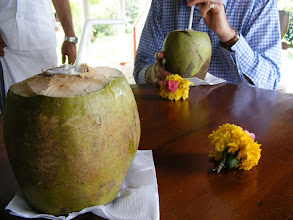 Photo: Refreshing coconut drink