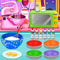 Cooking Rainbow Birthday Cake icon