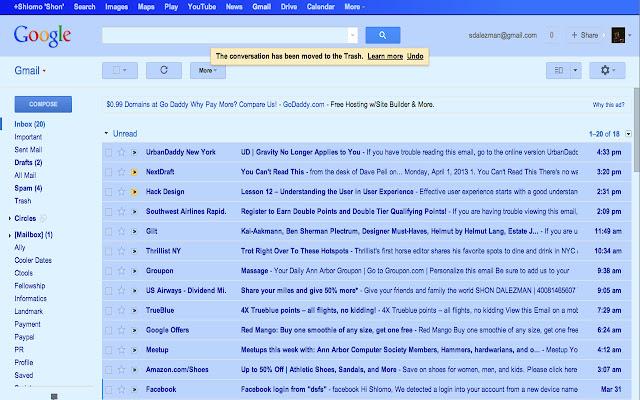 Gmail Blue April Fool's Joke