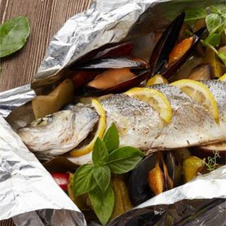 Branzino al Cartoccio (Baked Sea Bass in Foil)
