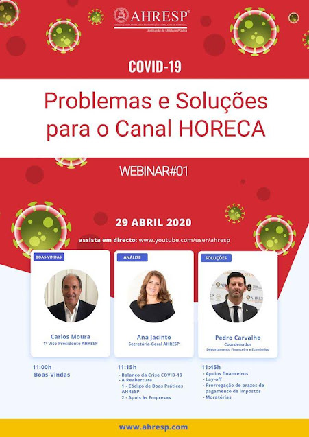 Webinar debate reabertura dos estabelecimentos do canal HORECA