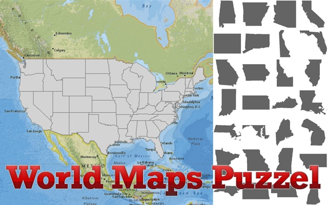 World maps puzzle chrome web store find all the us states and the brazilian states in the maps gumiabroncs Images