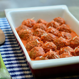 Meatballs with Creamy Tomato Sauce