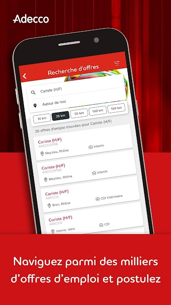 Adecco & Moi - Mission Interim et offres d'emploi Android App Screenshot