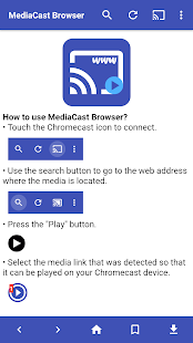 MediaCast Browser for Chromecast - náhled