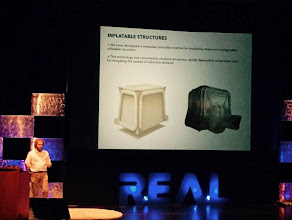 Photo: StageSaul Griffith Inflatable Structures at #REAL2015 Main Hall