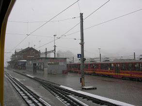 Photo: Stacja przesiadkowa na Jungfraubahn