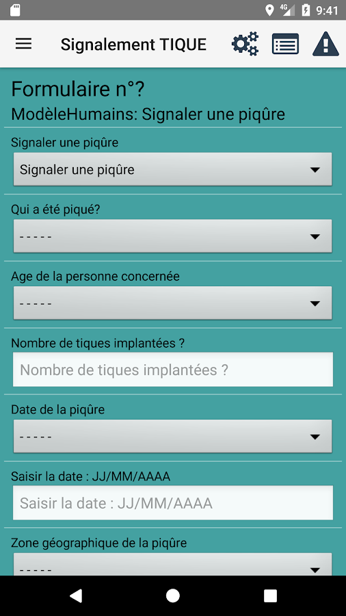 Signalement TIQUE- screenshot