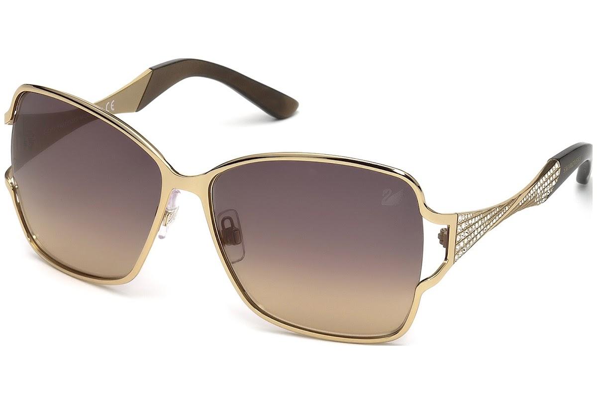 221004c53bcc Buy Swarovski Donna SK0064 C61 33B (gold other   gradient smoke) Sunglasses