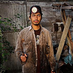 Rubber tapper by Azmil Omar - People Portraits of Men ( boy, people, man )