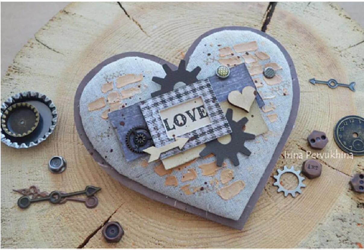 картичка сърце