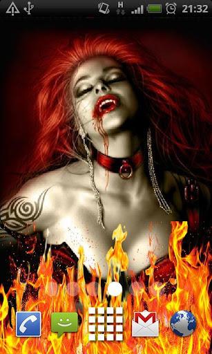 Vampire Fire Live Wallpaper