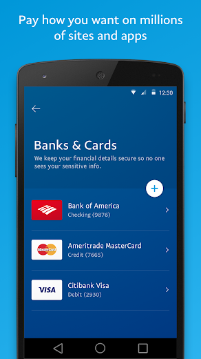 Screenshot 3 for PayPal's Android app'