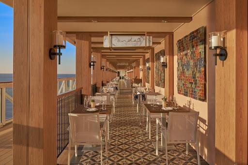 ncl_Encore_Onda_by_Scarpetta_Waterfront.jpeg - Like to dine al fresco? Head out to the Waterfront to enjoy Italian fare at Onda by Scarpetta on Norwegian Encore