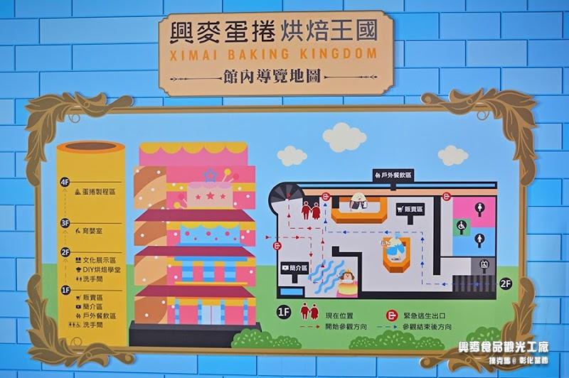 興麥觀光工廠導覽地圖