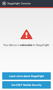 ESET Stagefright Detector- screenshot thumbnail