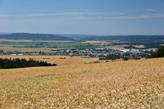 Photo: W dole widoczne już miasto Lanškroun.