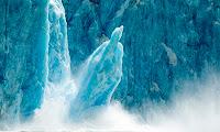 Calving iceberg in Alaska