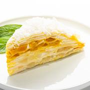 Coconut Mango Mille-Crêpe Cake (Slice)