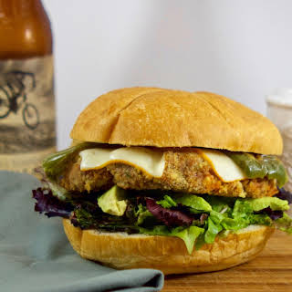 Sweet Potato & Red Bean Burger with Roasted Jalapeño.