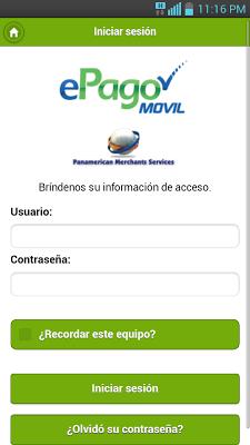ePago Móvil - screenshot