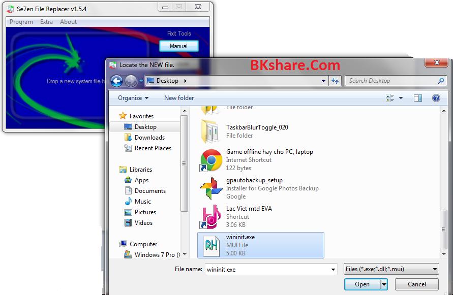 Công cụ thay thế file hệ thống